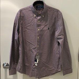 Ralph Lauren Purple Checked Long Sleeve Custom Fit